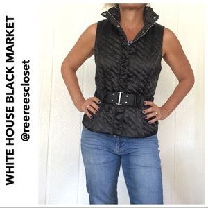 WHBM QUILTED BLACK VEST SMALL